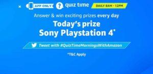 Amazon Sony Play Station 4 Quiz