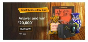 Amazon Small Business Day Quiz Answers