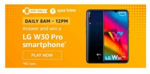 Amazon LG W30 Pro Quiz Answers