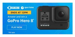 Amazon GoPro Hero8 Quiz - Answer and win GoPro Hero8