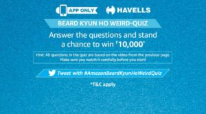 Amazon Havells Quiz Answers- Win Rs.10,000