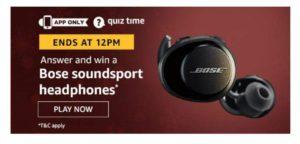 Bose Headphone Quiz Answers