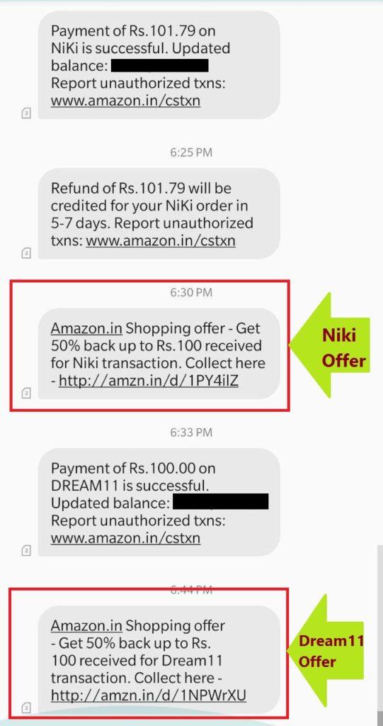 Amazon Dream11 Offer