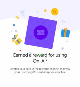 Google Pay On Air Offer Reward