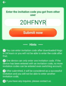 HAGO Referral Code 2020