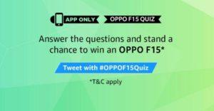 AmazonOppo F15 Quiz Answers