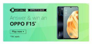 All Answers Amazon Oppo F15 Quiz Win Oppo F15 Smartphone Onlinedealtrick