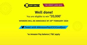 Amazon The Credit Card Quiz Answers