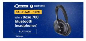 Amazon Bose 700 Headphones Quiz Answers