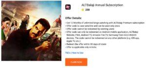 Free Alt Balaji Premium Subscription