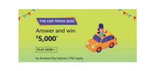 Amazon Car Trivia Quiz Answers