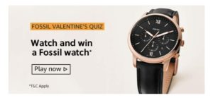 Amazon Fossil Valentines Quiz Answers