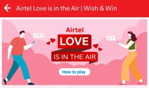 Airtel Love is In The Air Game