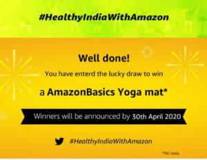 Amazon Spin & Win - Healthy India