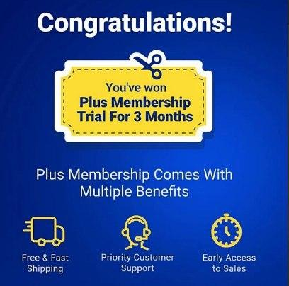Free flipkart Plus Membership