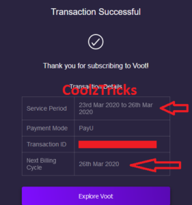Voot Select Free Trial Offer