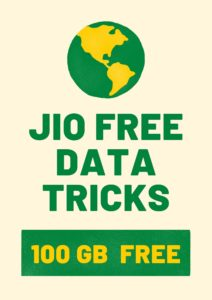 jio free data tricks