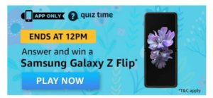 Amazon Samsung Galaxy Z Flip Quiz Answers
