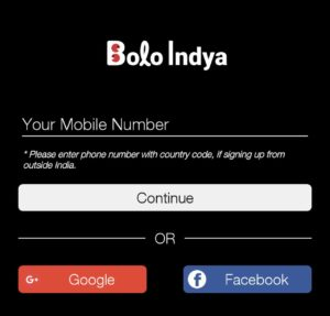 Bolo Indya Sign Up