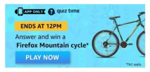 Amazon Firefox Mountain Cycle Quiz