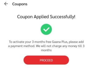 Gaana+ Free Premium Subscription