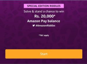 Solved Amazon Special Edition Riddles Quiz Answers Win 7500 Pay