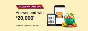 AmazonPay Later Quiz Answers