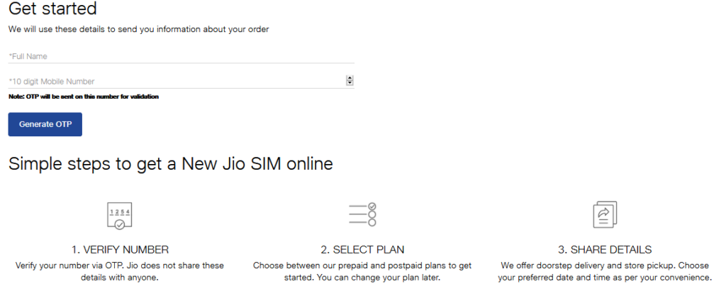 Get Reliance Jio SIM Card Online For Free