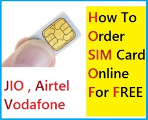 How To Order SIM Card Online For FREE