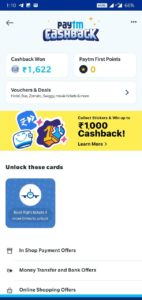 PayTM Sticker Cashback Offer