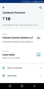 Ludo Supreme PayTM Payment Proof