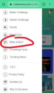 Cricketmania Refer Earn