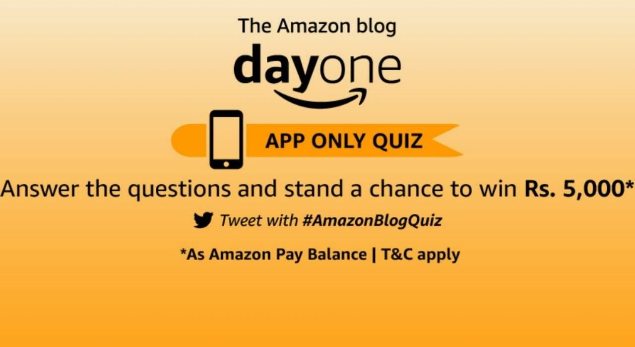 Solved Amazon Blog Day One Quiz Answers Win 20000 Pay Balance