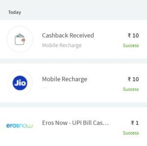 Freecharge Cashback Offer