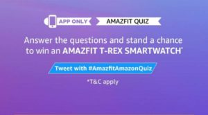 Amazon Amazfit T-Rex Quiz Answers