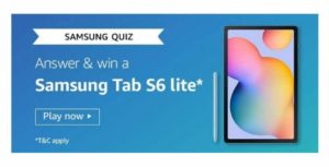 AmazonSamsung Tab S6 Lite QuizAnswers