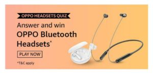 Amazon Oppo Headsets Quiz Answers