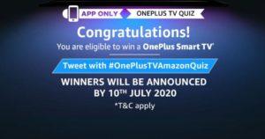 Amazon OnePlus TV Quiz Answers