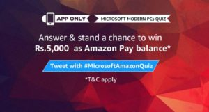 Amazon Microsoft Laptop Quiz Answers