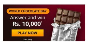 AmazonWorld Chocolate Day Quiz Answers