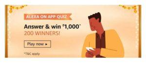 Amazon Alexa On App Quiz Answers