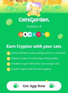 CatsGarden Crypto App Refer Earn