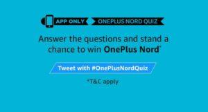 Amazon OnePlus Nord Quiz Answers