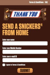 Grofers Snickers From Home Offer