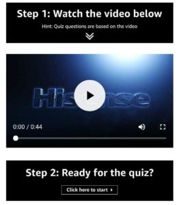 Amazon Hisense Be Amazed Quiz Answers