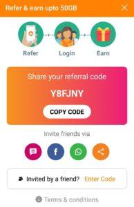 JioCloud Referral Code 2020
