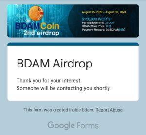BDAM Coin Referral Code