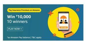 Pay Insurance Premium On Amazon Quiz Answers
