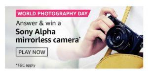 Amazon World Photography Day Quiz Answers