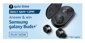 Amazon Samsung Galaxy Buds Quiz Answers